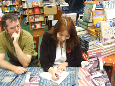 Emma signing books in Waterstones