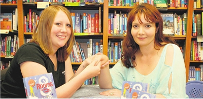 Esme Fone hand massages at Book signing