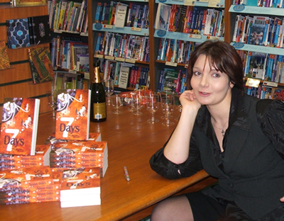 Emma signing books at Waterstones